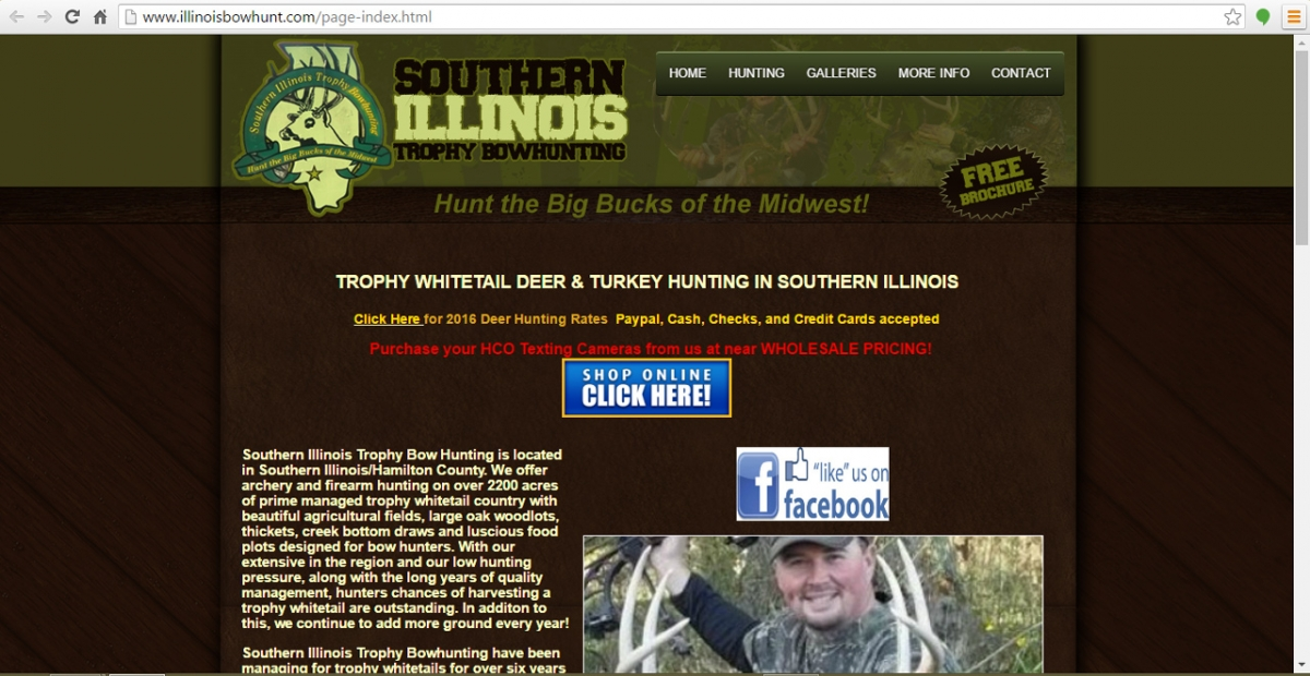 Dahlgren, Illinois Hunting Web Design