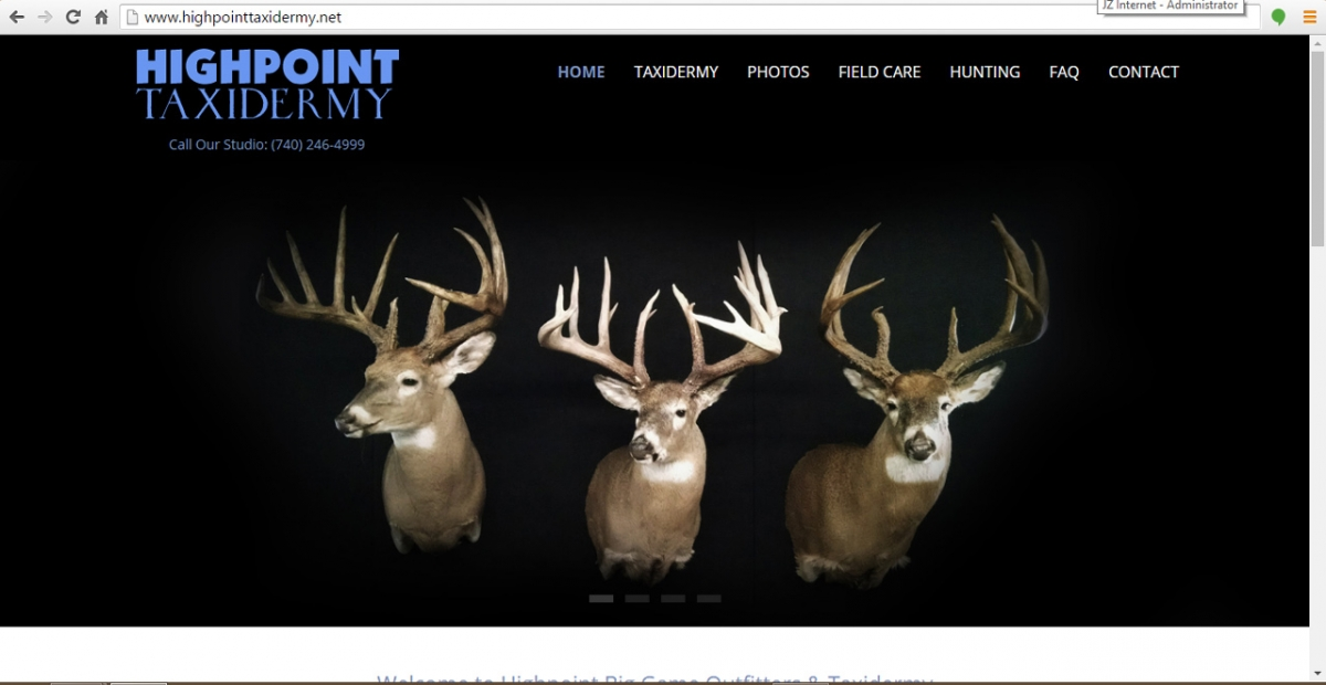 Thornville, Ohio Taxidermy Web Design