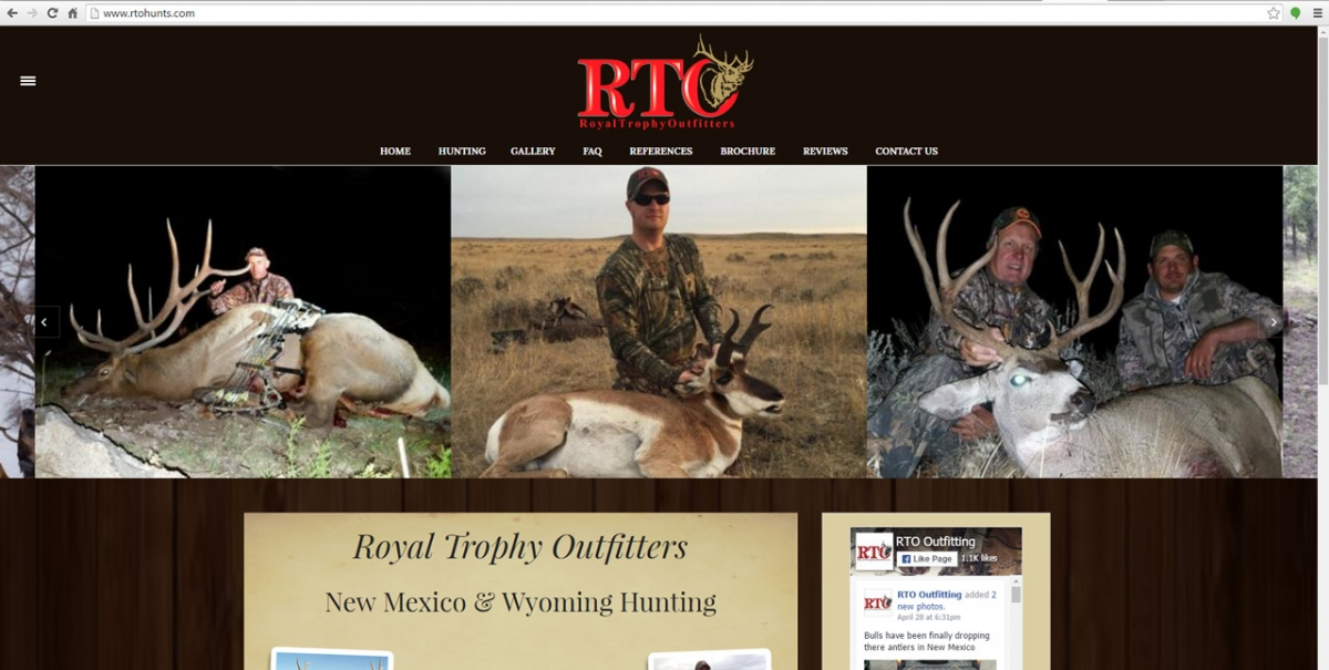 Quemado, New Mexico Hunting Web Design