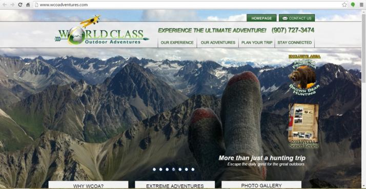 Anchorage, Alaska Hunting Web Design