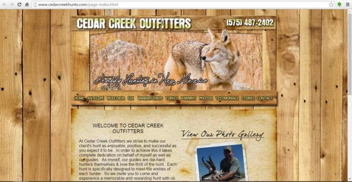 Logan, New Mexico Hunting Web Design