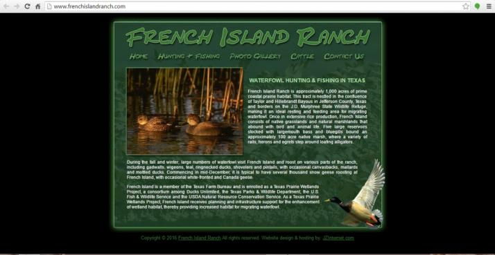 Beaumont, Texas Hunting Web Design