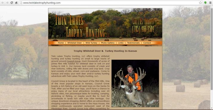 Council Grove, Kansas Hunting Web Design
