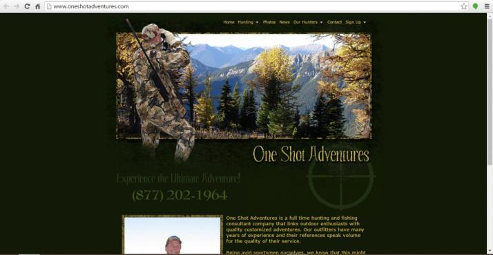 Dallas, Texas Hunting Web Design