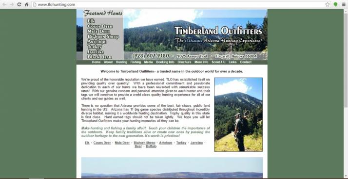 Flagstaff, Arizona Hunting Web Design