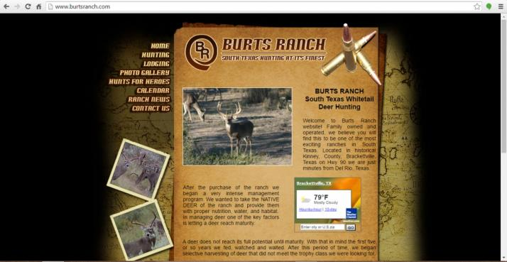 Brackettville, Texas Hunting Web Design
