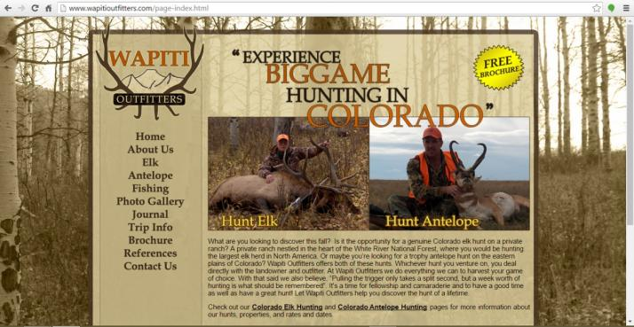 Colorado Springs, Colorado Hunting Web Design