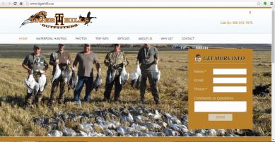 Saskatchewan, Canada Hunting Web Design