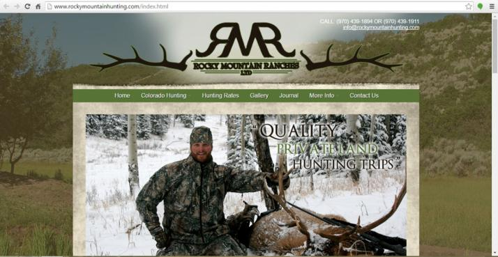Wheat Ridge, Colorado Hunting Web Design