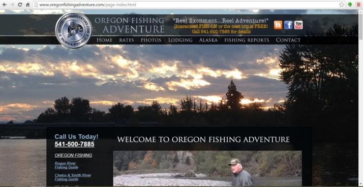 Grants Pass, Oregon Fishing Web Design