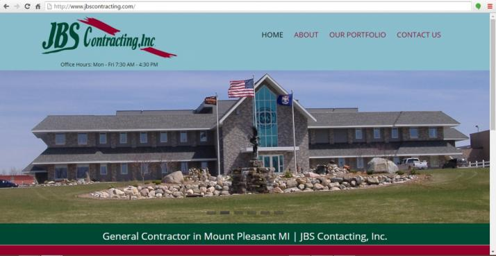Mount Pleasant, Michigan Contractor Web Design