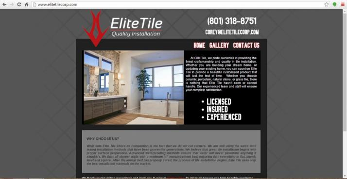 Midway, Utah Contractor Web Design