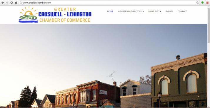 Croswell- Lexington, Michigan Chamber Web Design