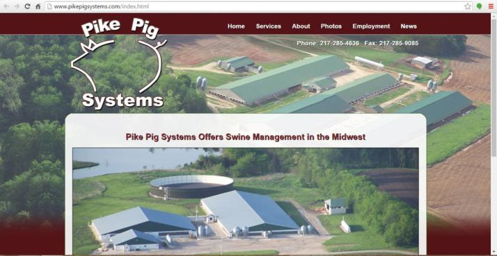 Pittsfield, Illinois Farm Web Design