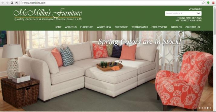 Yale, Michigan Furniture Web Design