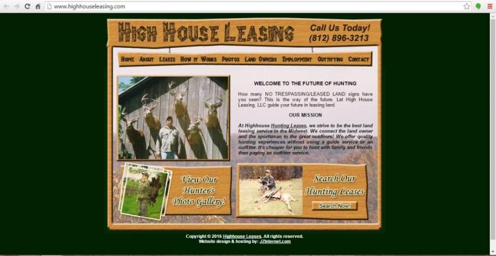 Indiana Hunting Lease Web Design