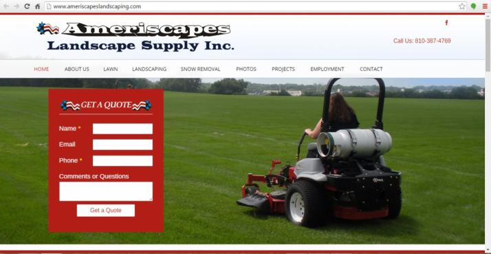 Yale, Michigan Landscape Web Design