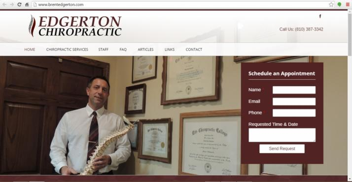 Yale, Michigan Chiropractic Web Design
