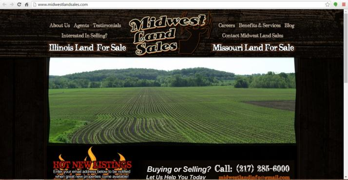 Pittsfield, Illinois Real Estate Web Design