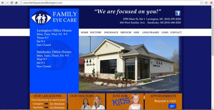 Michigan Eye Care Web Design