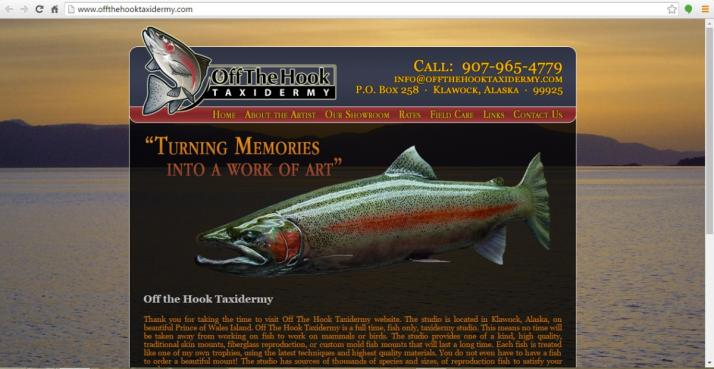 Klawock, Alaska Taxidermy Web Design