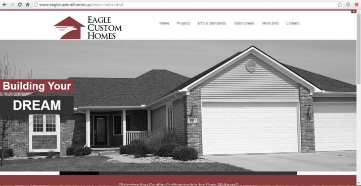 Grand Blanc, Michigan Contractor Web Design