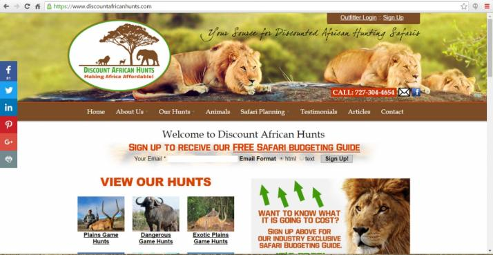 Palm Harbor, Florida Hunting Web Design