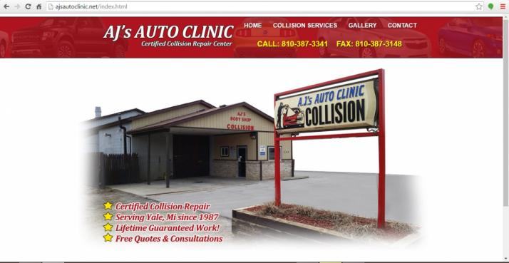 Yale, Michigan Auto Web Design