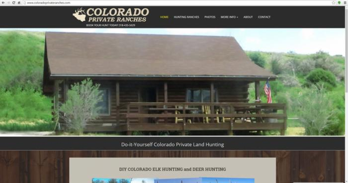 Colorado Outfitter Hunting Web Design