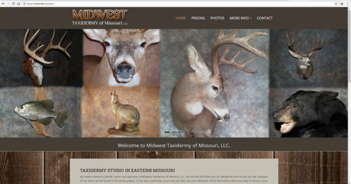 Troy, Missouri Taxidermy Web Design